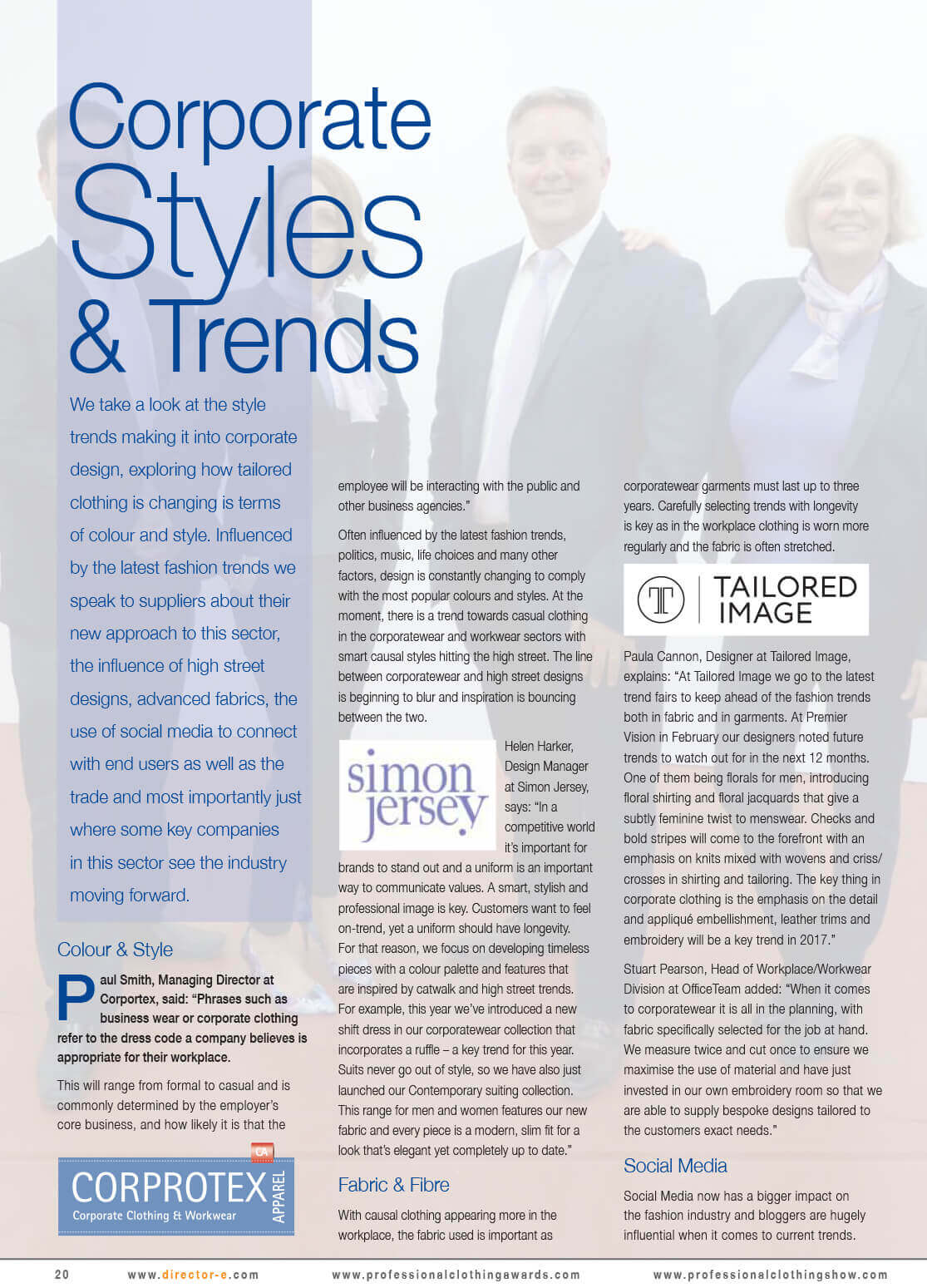 #Corporate #Styles & #Trends Feature Article – Director-e Magazine June/July 2017 >>