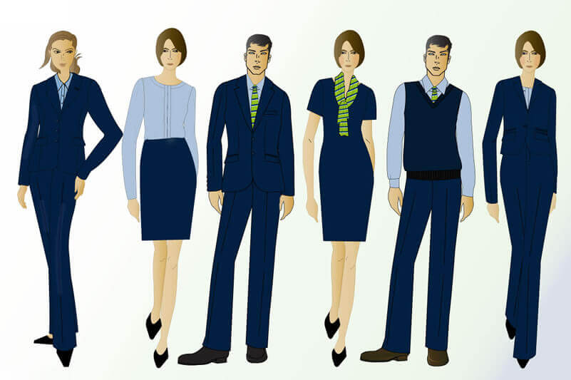 Nottingham Building Society Uniform collection drawings