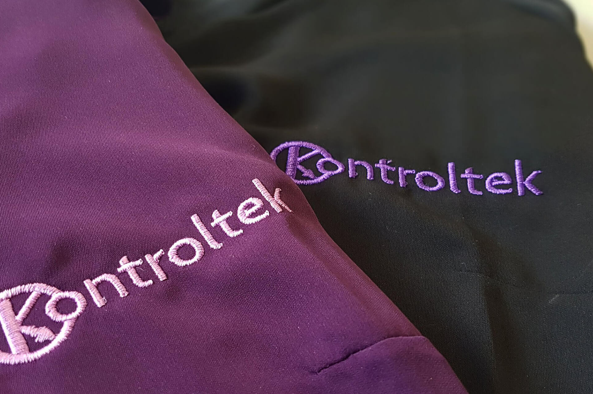 Kontroltek new uniforms with bespoke embroidery