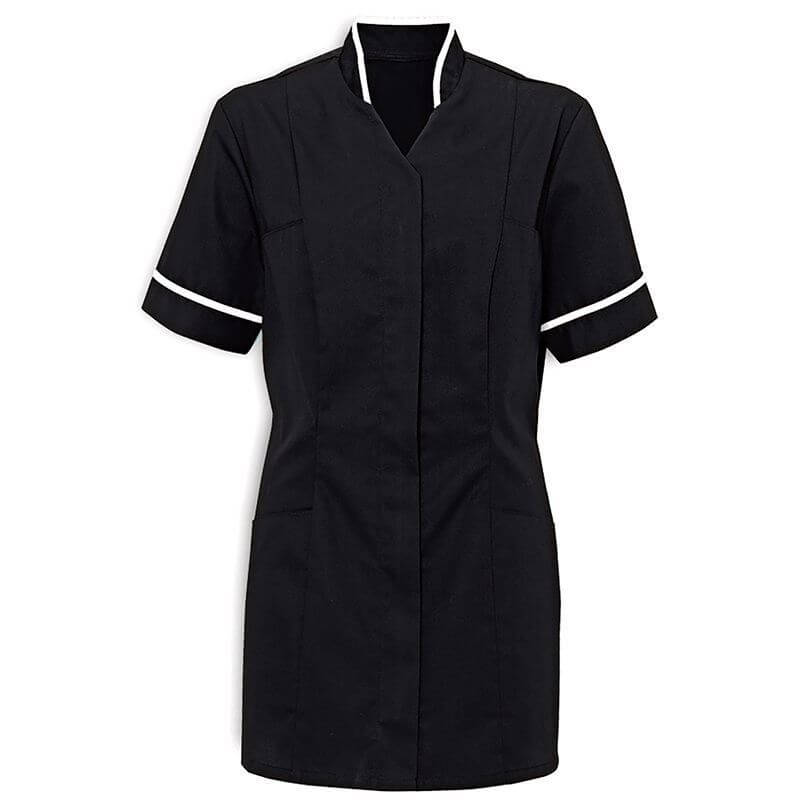 Corprotex healthcare tunic, navy with white band on arms and collar